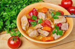 Meat- och grönsakstew Royaltyfri Foto