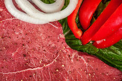 Meat with onions and peppers Royalty Free Stock Images