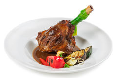 Meat. Osso bucco from a lamb stock image