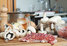 Meat and other raw food Stock Photo