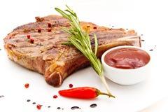 Meat på grilla stock illustrationer