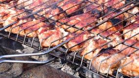Meat på grilla Fotografering för Bildbyråer
