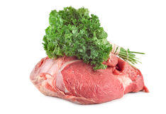 Meat and parsley Stock Image