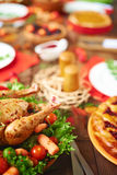 Meat and pastry stock photography