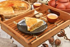 Meat pasty. Taiwan`s  traditional cake - Meat pasty Stock Photography