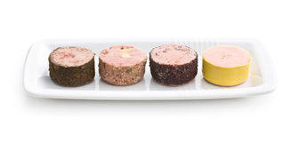 Meat pate with different flavors Royalty Free Stock Photos