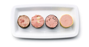 Meat pate with different flavors Royalty Free Stock Photo