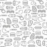 Meat pattern Stock Images