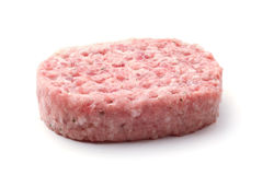 Meat pattie isolated on white Stock Images