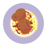 Meat patties Royalty Free Stock Images