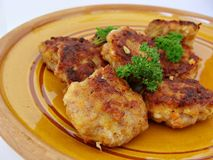 Meat patties Stock Images