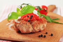 Meat patty Royalty Free Stock Images