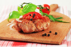 Meat patty Stock Photography
