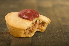 Meat pie. Meat australian culture australia ketchup steak beef Stock Image