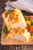 Meat pie on board Royalty Free Stock Photos