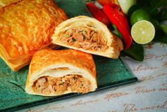 Meat pie with chicken Royalty Free Stock Photography
