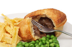 Meat pie closeup Stock Images