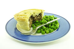 Meat Pie on a Plate Stock Images