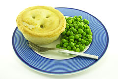 Meat Pie on a Plate Stock Image