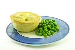 Meat Pie on a Plate Stock Photo