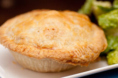 Meat pie with side salad Royalty Free Stock Photography