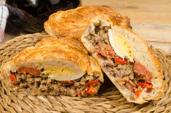 Meat pie tapa Stock Photography