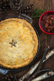 Meat pie Tourtiere Royalty Free Stock Images