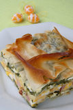 Meat pie with vegetable Royalty Free Stock Images