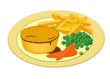 Meat pie with vegetables Royalty Free Stock Image