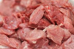 Meat pieces close up Royalty Free Stock Image