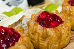 Meat pies with cranberry Royalty Free Stock Photos