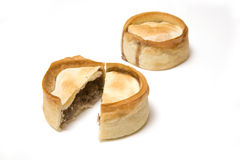 Meat pies isolated on white Royalty Free Stock Photos