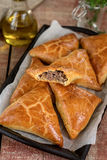 Meat pies samosas with ground beef Royalty Free Stock Photos