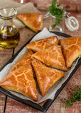 Meat pies samosas with ground beef Stock Image