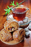 Meat pies and tea Stock Images
