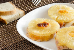 Meat with pineapple Stock Images