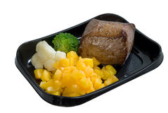 Meat with pineapple and vegetables Royalty Free Stock Photo