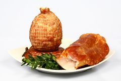 Meat on plate. Different kind of meat on plate Royalty Free Stock Images