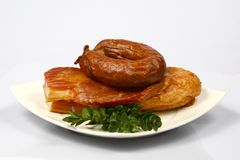 Meat on plate. Different kind of meat on plate Royalty Free Stock Photo