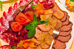 Meat platter Royalty Free Stock Images