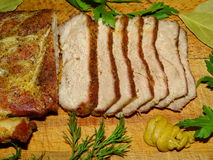 Meat, pork baked Royalty Free Stock Image