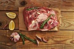 Meat pork fresh. Raw meaton paper Stock Photos