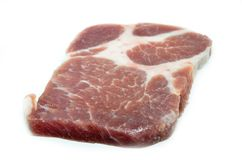 Meat pork loin pork slices Royalty Free Stock Image