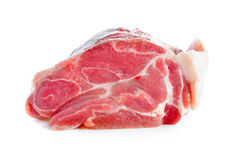 Meat, pork, slices pork. On white background Stock Image