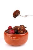 Meat in pot Stock Photos