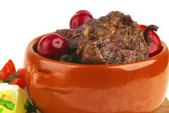Meat in pot Royalty Free Stock Photo