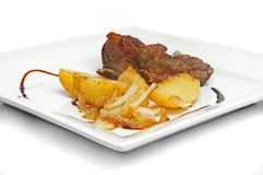 Meat and potato Royalty Free Stock Images