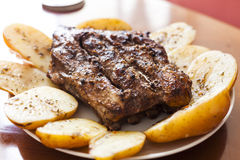 Meat and Potato stock images