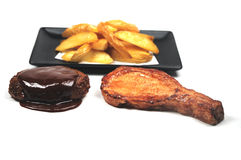 Meat and potatoes Royalty Free Stock Image