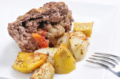 Meat with potatoes Stock Image